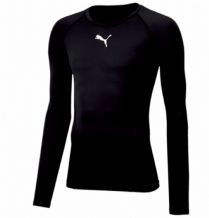 Puma Liga Base Layer L/S Tee – Black Adults